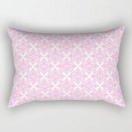 Damask (Pink & White Pattern) Rectangular Pillow