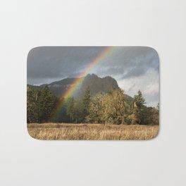 Beacon Rock Rainbow Nature Photography Bath Mat