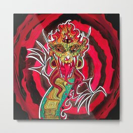 Soul Dragon Metal Print