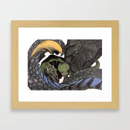 Let Sleeping Dragons Lie Framed Art Print