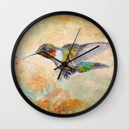 Flying To The Berries Wall Clock