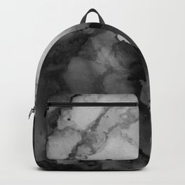 Undertow- Gray Black Abstract Painting Backpack