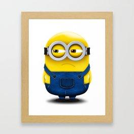 Minion BOB (Angry) Framed Art Print