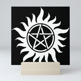 Anti Possession Sigil White Mini Art Print