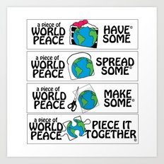World Peace, Illustration Art Print