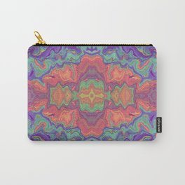 Sunset Colors Abstract Watercolor Marble Carry-All Pouch