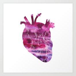 Watercolor Heart Art Print