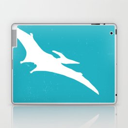 Pterodactyl Dinosaur Turquoise Blue Laptop & iPad Skin