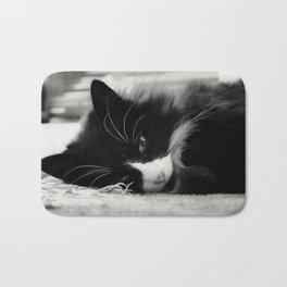 Black and White Cat Bath Mat