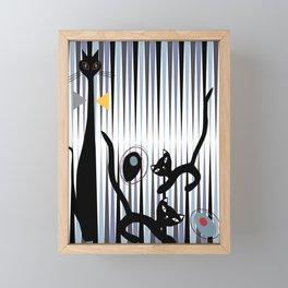 Mid-Century Modern Art - Cat & Kittens Framed Mini Art Print