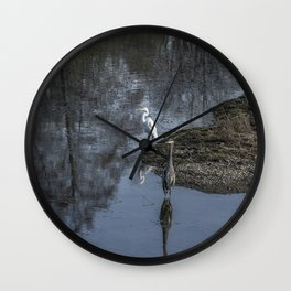 Reflections of My Feathered Friends Wall Clock