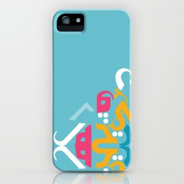 Blue Arabic iPhone Case
