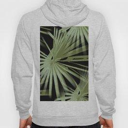 Green On Black Tropical Vibes Beach Palmtree Vector Hoody
