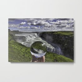 Gulfoss Crystal Ball 3 Metal Print