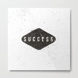 Success Black Diamond Metal Print