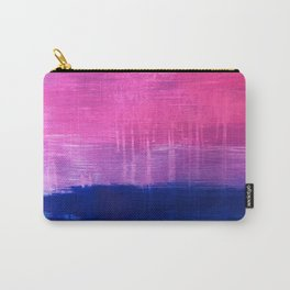 Bisexual Flag: abstract acrylic piece in pink, purple, and blue #pridemonth Carry-All Pouch