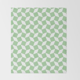 Mint Op Art Pattern Throw Blanket
