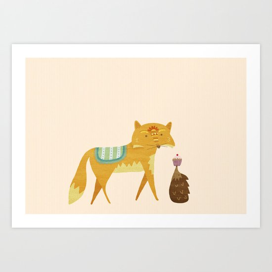 The Fox and the Hedgehog Art Print