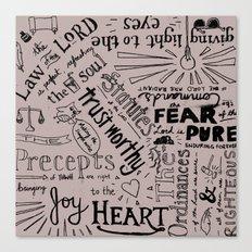 Psalm 19 Canvas Print