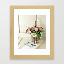 Flowers on Display Framed Art Print