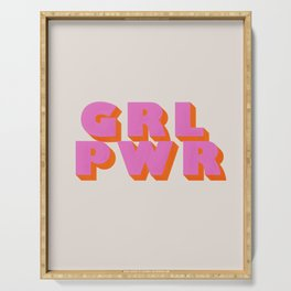 Girl Power Serving Tray