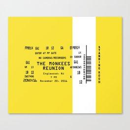 Concert Ticket Stub - The Monkees Reunion Canvas Print