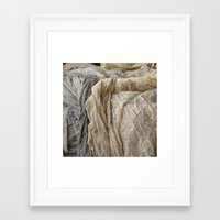 lace Framed Art Prints featuring Lace by Jillian Audrey
