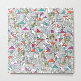 tangram town Metal Print