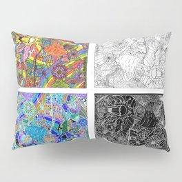 #2 Pencil Doodle (4 panel sampler) Pillow Sham