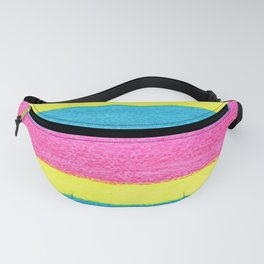 Neon Pink, Yellow and Blue Stripes Fanny Pack
