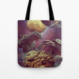 Godzilla VS Gamora  Tote Bag