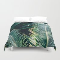 palm tree Duvet Covers featuring Palm Tree by Pati Designs
