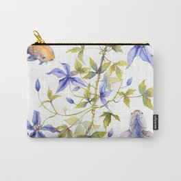 Clematis and Koi Fish Water Magic Carry-All Pouch