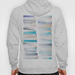 18  | 181101 Watercolour Palette Abstract Art | Lines | Stripes | Hoody