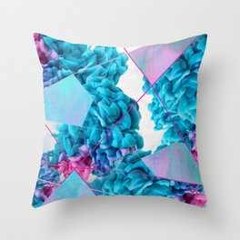 INK Cld Neon Throw Pillow