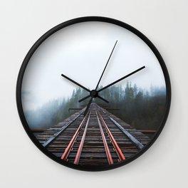 Abandoned Railroad Vance Creek Bridge - Olympic National Park, Washington Wall Clock