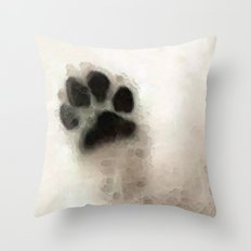I Paw You - Dog Art By Sharon Cummings Throw Pillow