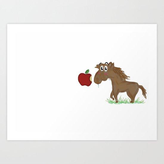 Horse Food Art Print