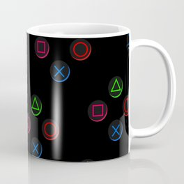 PS4 controller buttons neon aesthetics Coffee Mug