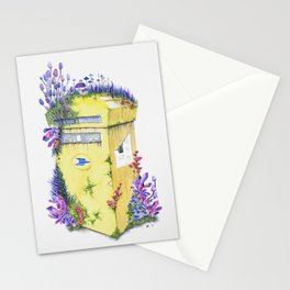 Growth on MailBox | Surrealistic Watercolor Painting by Stephanie Kilgast Stationery Cards