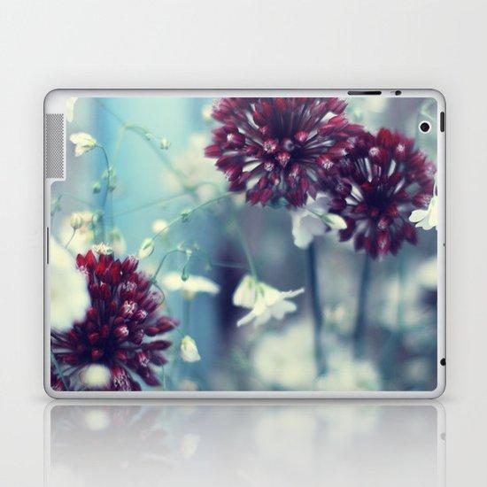 Flowers on Blue Laptop & iPad Skin