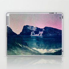Mountains Forest and Waterfall - Cascadia Night Fog Mountain Laptop & iPad Skin