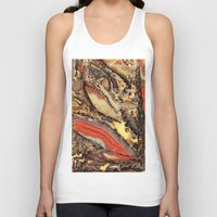 minerals Tank Tops featuring Colorful Gemstone I by Kristiana Art Prints