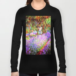 Monets Garden in Giverny Long Sleeve T-shirt