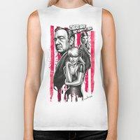 house of cards Biker Tanks featuring Two Kinds Of Pain - House Of Cards by Renato Cunha