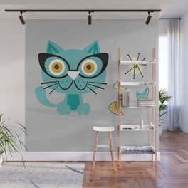 1950s Atomic Age Mid Century Modern Kitty Cat Wall Mural