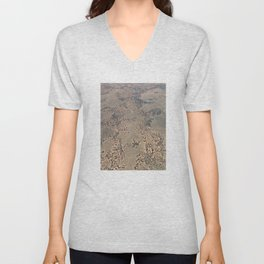 Mojave Desert bird's eye view Unisex V-Neck