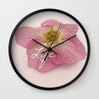 flower of life Wall Clocks featuring Life by Kelsi Lee Photography
