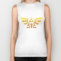 triforce Biker Tanks featuring Triforce by Wicttor