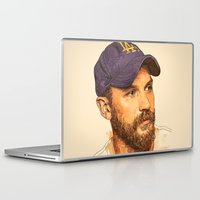 tom selleck Laptop & iPad Skins featuring Tom by Roxy Color